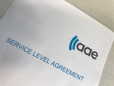 Photo of an AAE Service Level Agreement, SLA