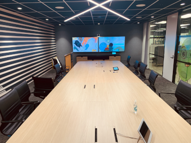 Boardroom with Control Touchscreen