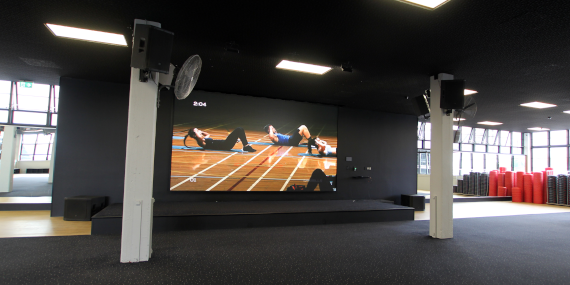 Photo of LED wall in Auckland City Gym